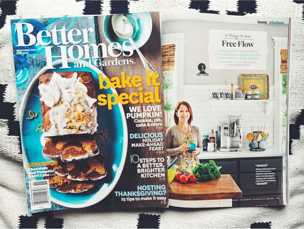 Better Homes & Gardens Magazine {Photoshoot of my Kitchen!!!!}