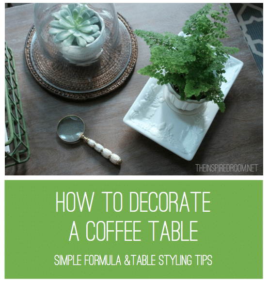 how to decorate a coffee table