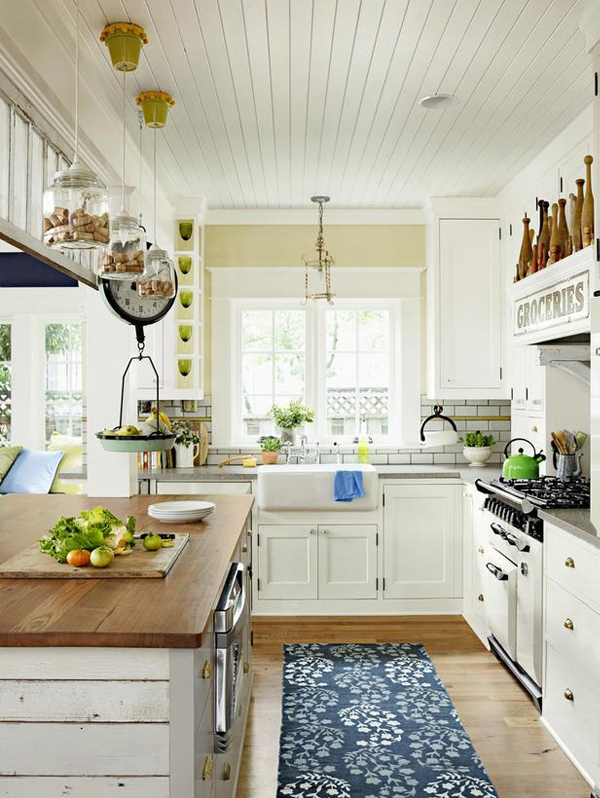Examples Of White Country French Kitchens