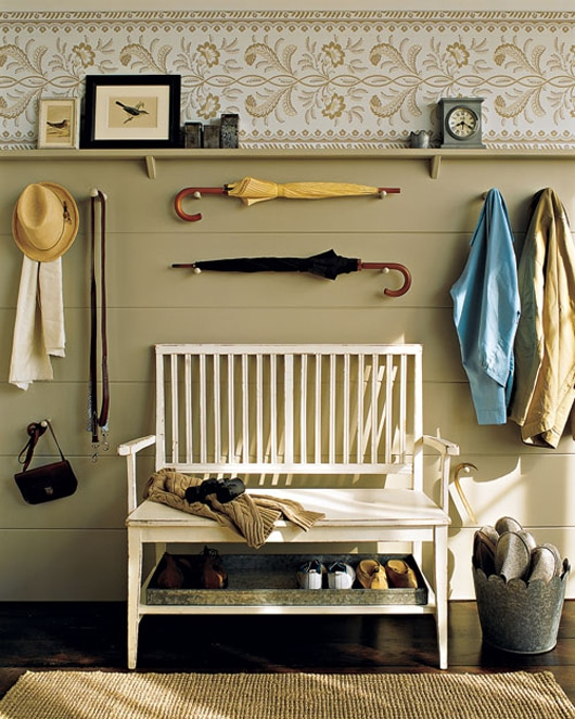 Mudroom Display and Organization