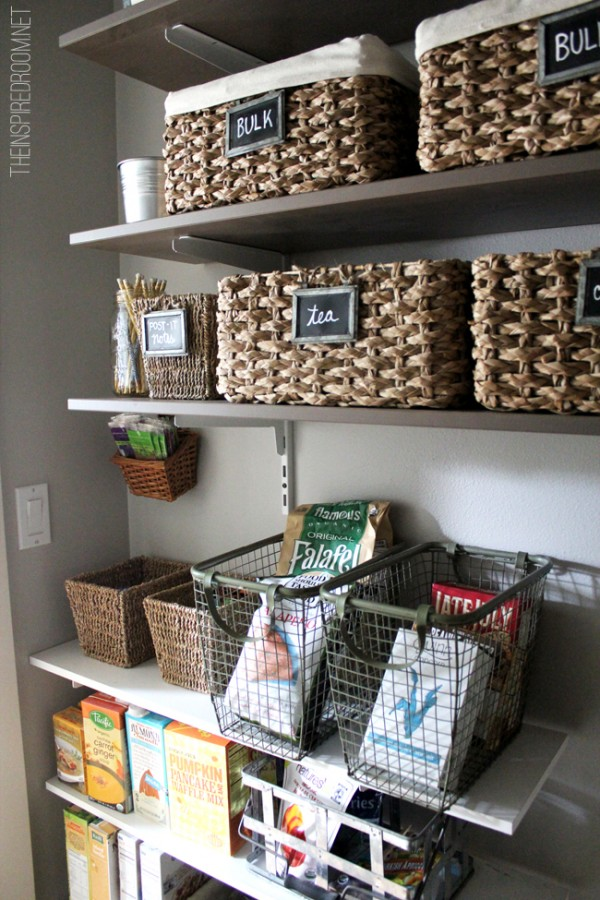 Pantry Organization and Decorating with Baskets