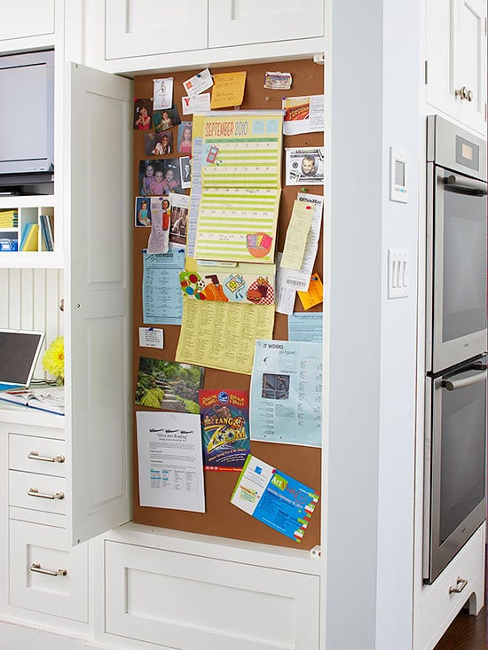 Paper Organization Bulletin Board in the Kitchen