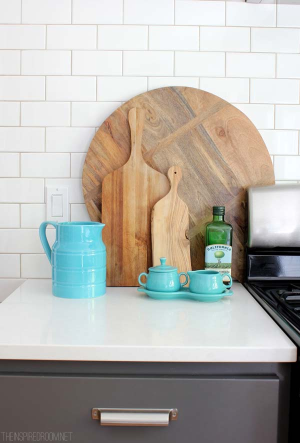 Wood Cutting Boards on Display in the Kitchen