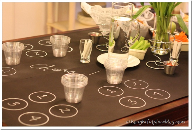diy chalkboard tablecloth a thoughtful place