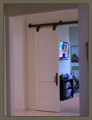Barn Doors: Reusing an Old Door