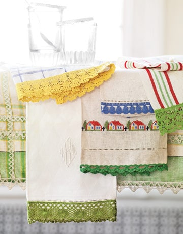 cute spring tea towels