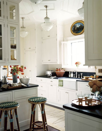 White Kitchens I Love {5 Take Away Tips} House Beautiful