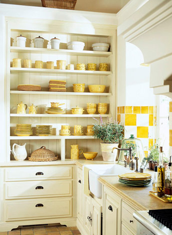 Kitchen Open Shelving for Dishes