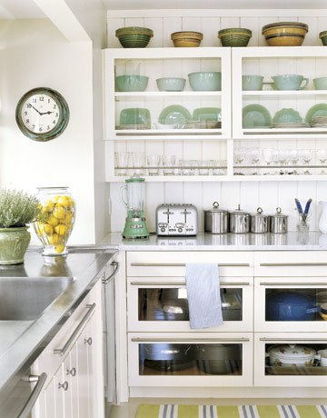 country living - Open Shelves Kitchen Design Ideas