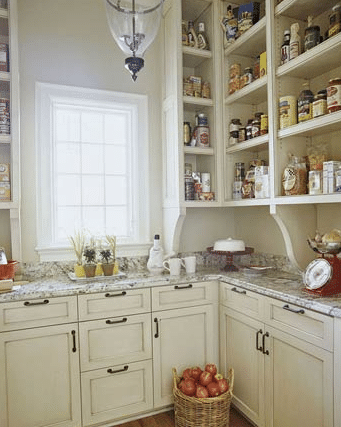 open kitchen pantry shelving design ideas | Pantries - The Inspired Room