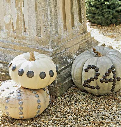 Get Crafty: Upholstery Tack Pumpkins