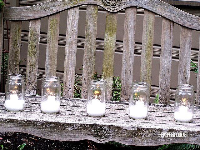 Mason Jars with DIY Glitter Snow