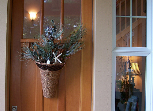 Fall To Winter Front Door Decor