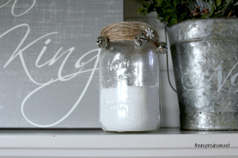 Easy Diy Christmas Decorating Idea Glittery Epsom Salt