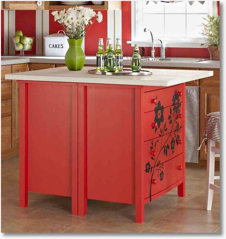 make your own kitchen island with dressers