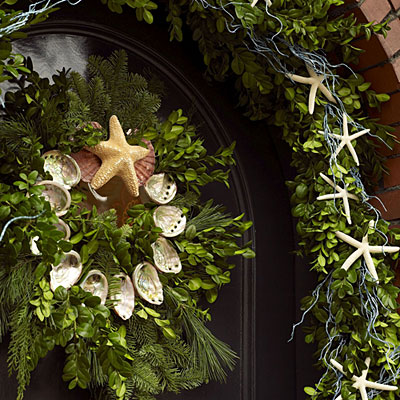 DIY: Coastal Beach Chic Christmas Decor