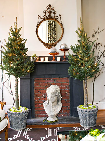 3 unique christmas decorating ideas the inspired room for Non traditional christmas tree ideas