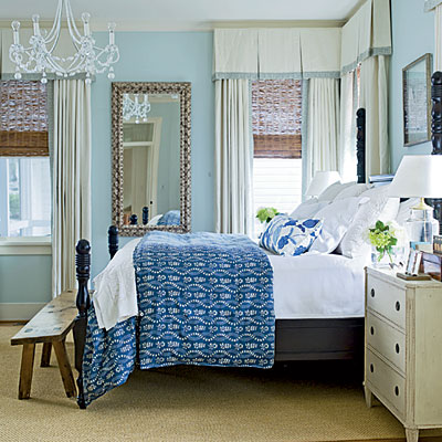shades of blue bedroom