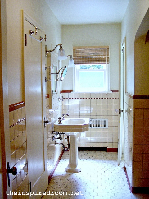 My old english tudor house the inspired room for Bathroom design 1930 s home