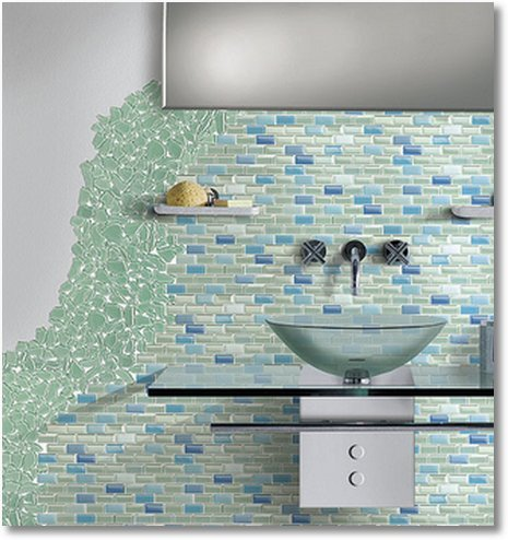 Beautiful Glass Tile Inspiration The Inspired Room