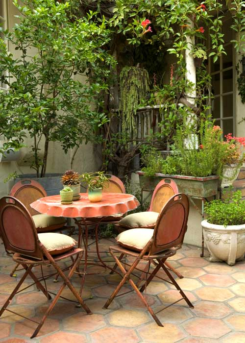 Inspired by charming patio spaces the inspired room Beautiful garden patio designs