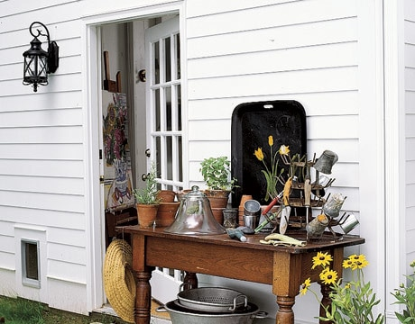 Charming Potting Shelves