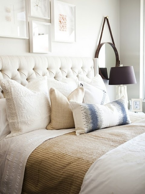 Pretty Neutral Bedroom Design