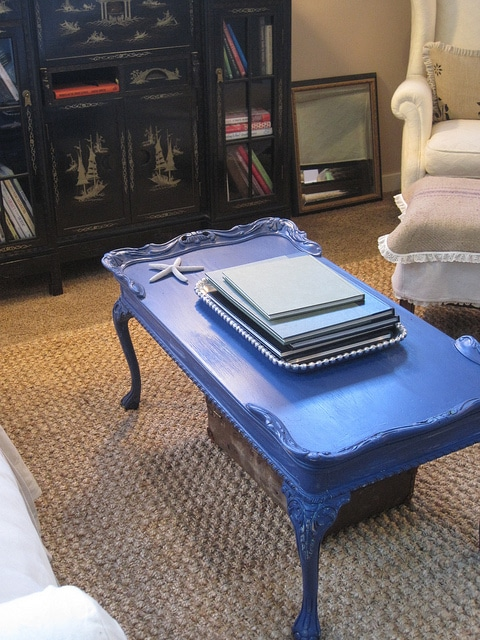 the tale of a blue coffee table the inspired room