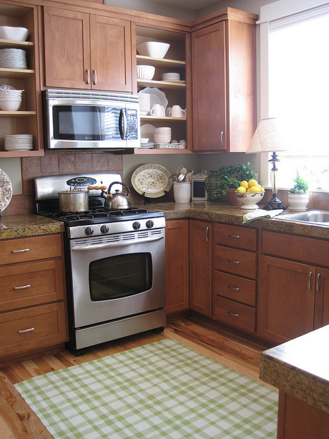 exceptional Kitchen Cabinets With Open Shelves #7: After cabinet doors were removed (**Kitchen ...