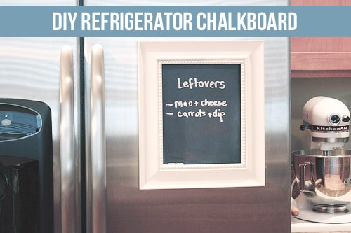 DIY easy refrigerator chalkboard project