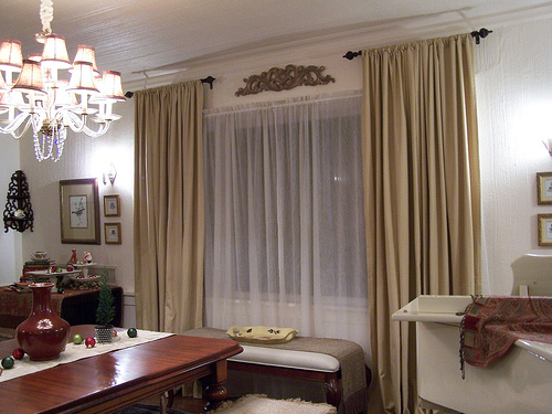 Formal Dining Room Window Treatment Ideas - Home Intuitive