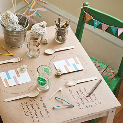 cute kids table setting idea
