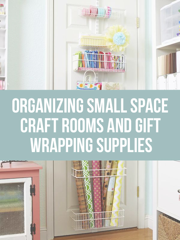 Gift Wrapping Storage and Organization for Small Space Craft Rooms