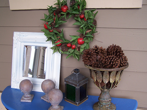 Before & After Wreath: <br>Dressed up for the holidays