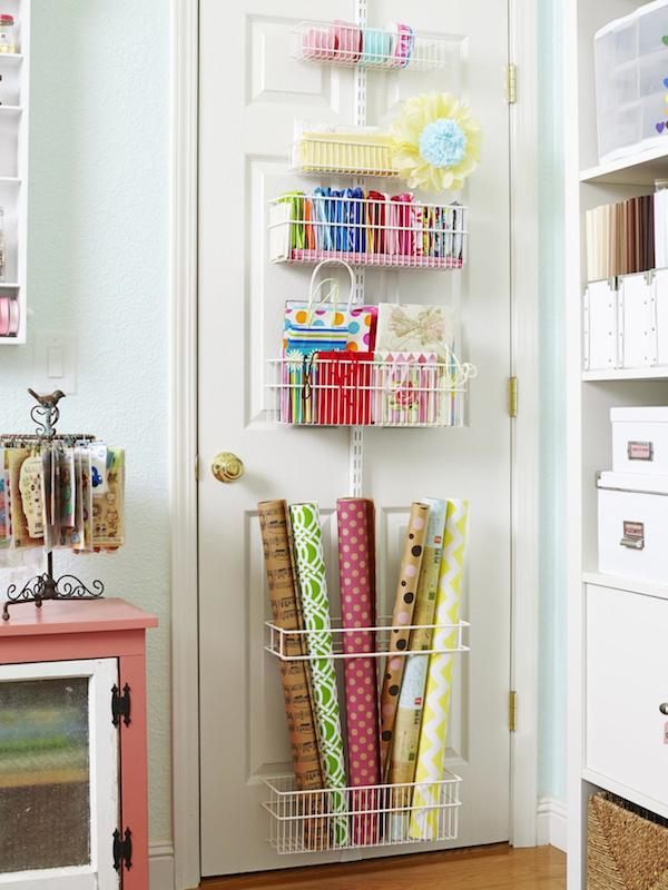 gift wrap storage over the door