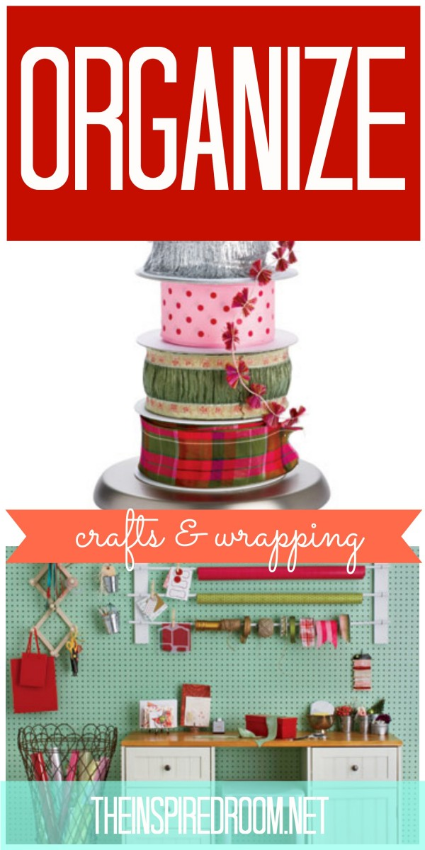 Lots of tips for organizing craft rooms and wrapping paper