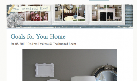 The Inspired Room's New & Fancy Email Subscriptions