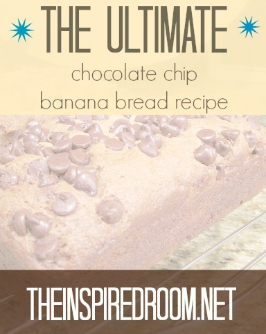 Banana Bread Recipe {add walnuts & chocolate chips if you love 'em!}
