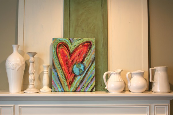 Dayspring Heart Canvas Print