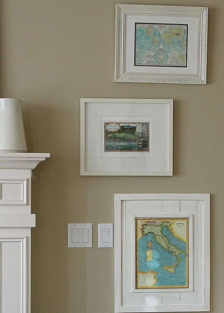 Framed Wall Calendar framed:: maps - the inspired room