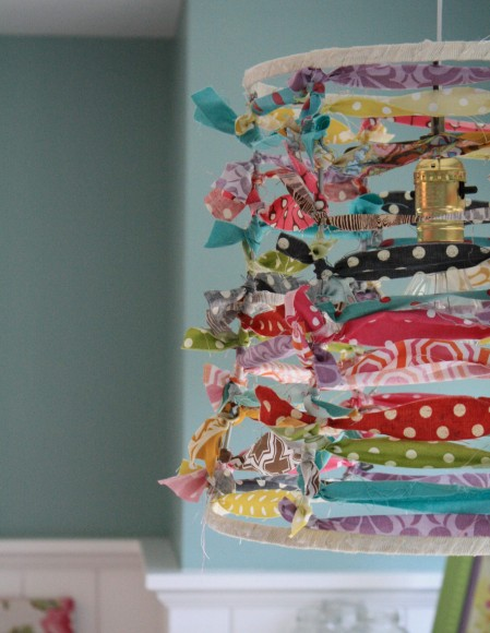 Make an Easy & Fun Lampshade Out of Scrap Fabric!