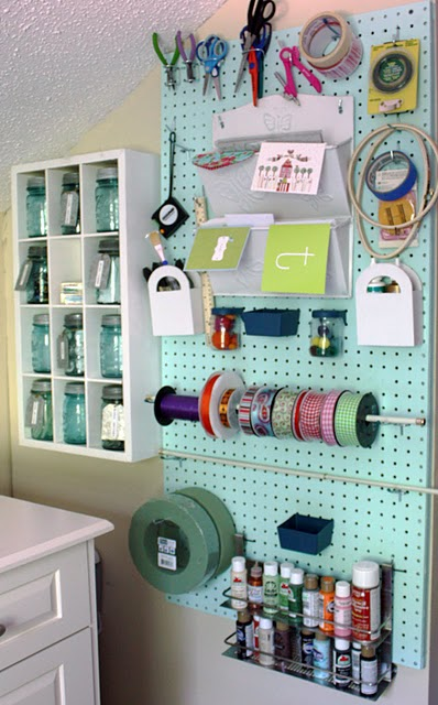 Pegboard Craft Room Organization Idea