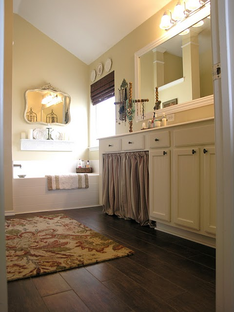 Room decorating before and after makeovers Master bathroom tile floor