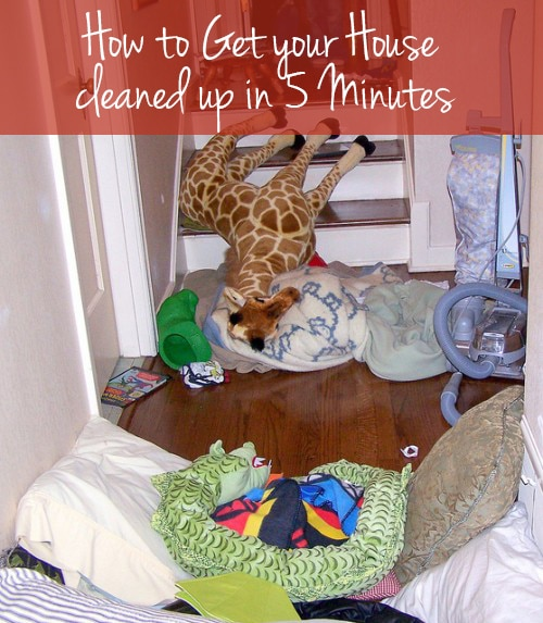 How To Get Your House Cleaned Up In Five Minutes