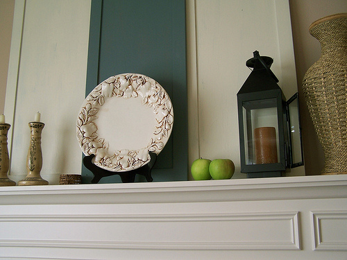 Before & After Mantel: Covering the TV Niche Above the ...