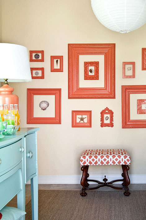 LOVE: Whimsical, Stylish & Simple Gallery Wall Idea