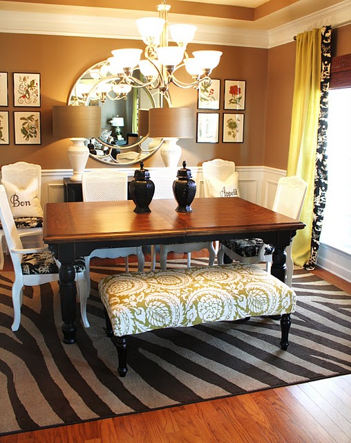 Room decorating before and after makeovers for Eclectic dining room design ideas