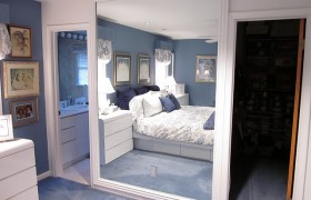 Frame a Large Mirror with Molding