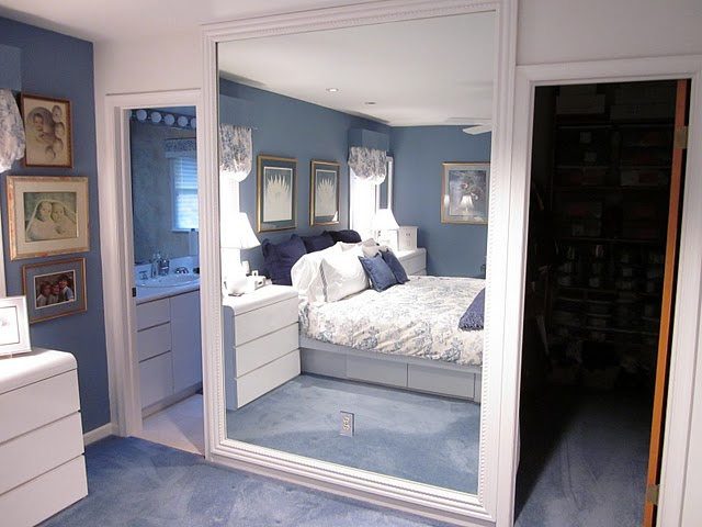 DIY Frame a Large Wall Mirror with Molding {DIY by Design} - The ...
