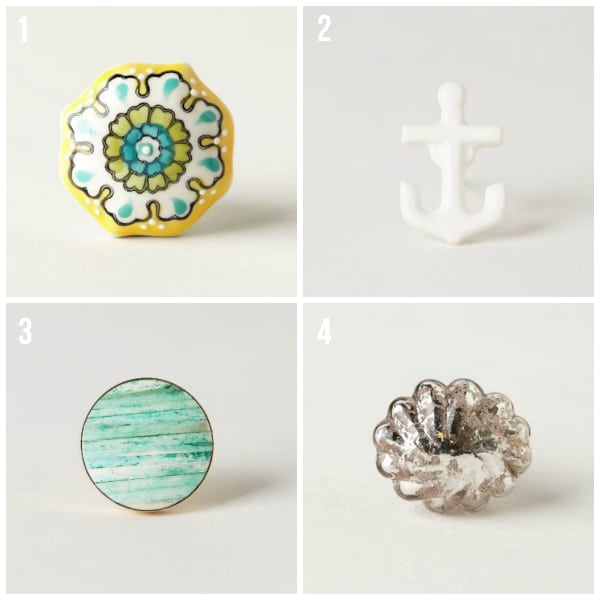 Knobs from Anthropologie -The Inspired Room